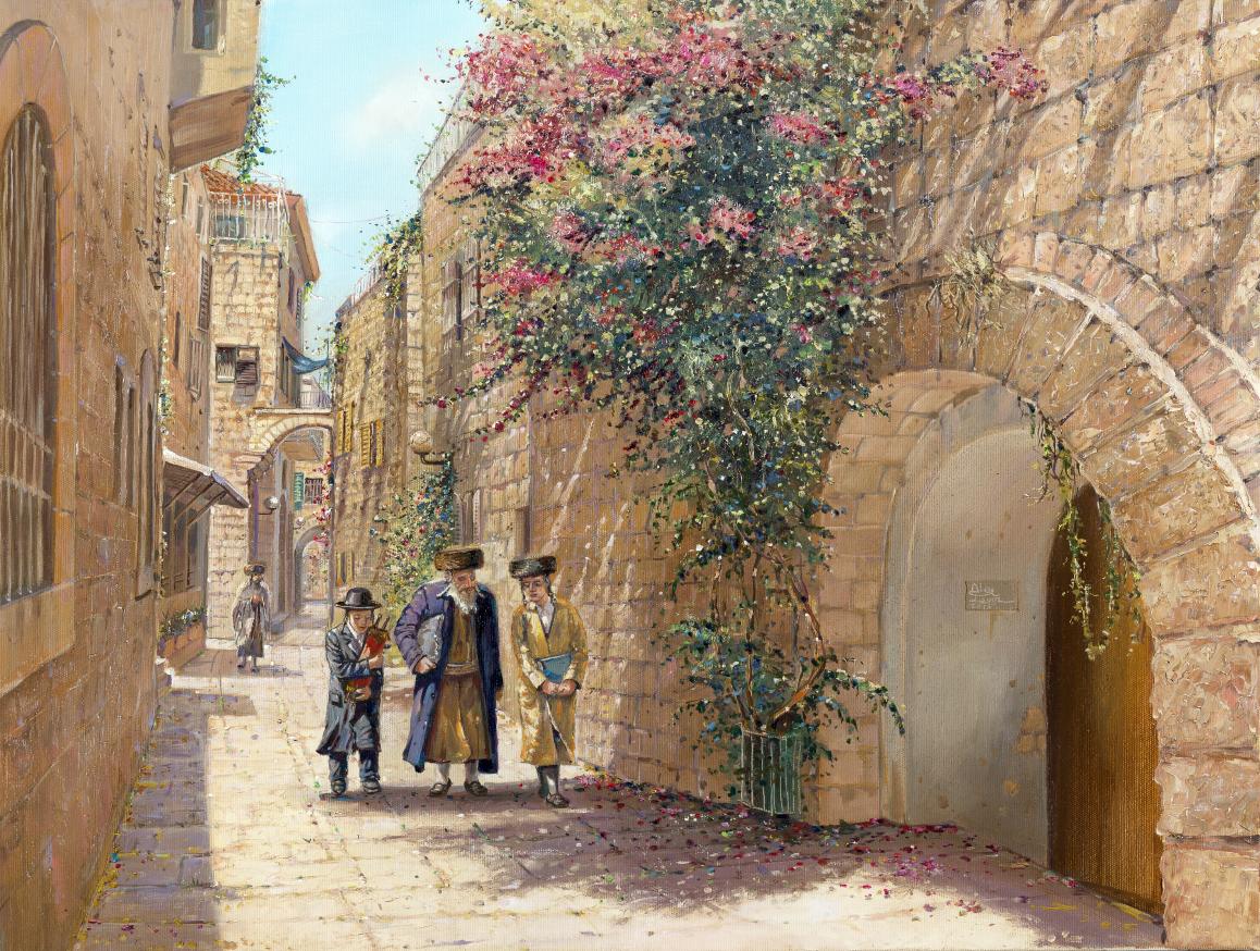 Old Streets Of Jerusalem Alex Levin Ner Art Gallery